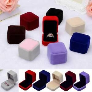 Gift-Velvet-Jewelry-Earring-Ring-Display-Storage-Organizer-Square-Box-Case-NEW