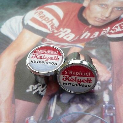 Vintage Style Jacques Anquetil Chrome Racing Bar Plugs Caps Repro