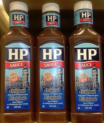Original Hp Steak Sauce 3x400ml Bottles Made In Canada 57000009403 Ebay