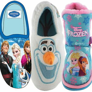 Boys Girls Disney Frozen Mule Slippers Sizes 6 2 Slipper