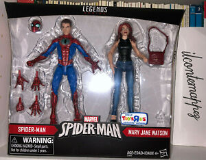 Marvel Legends SPIDER-MAN MARY JANE WATSON 2-pack Toys R Us eclusive MISB MOC