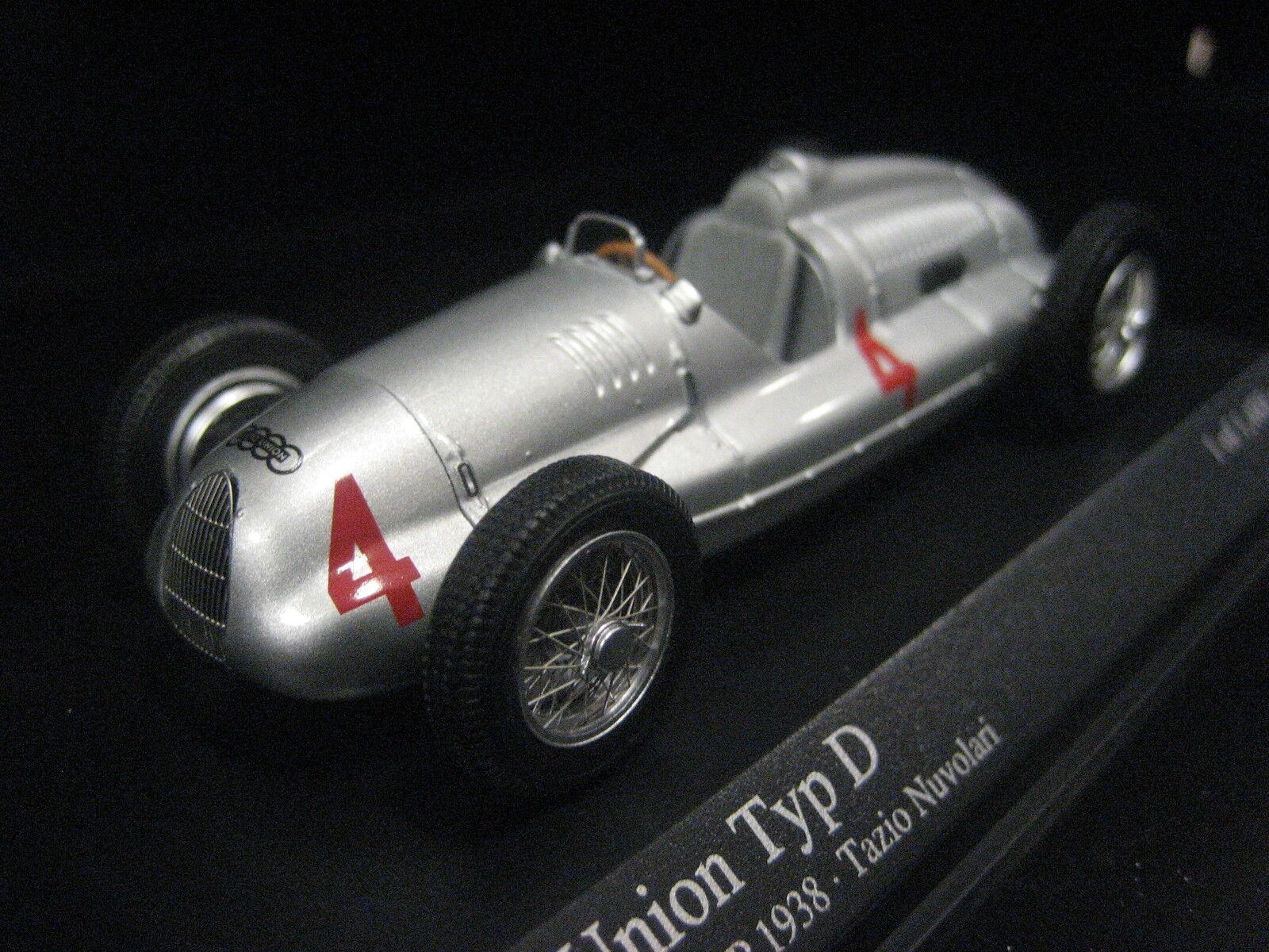 Auto Union tipo D British GP 1938 Tazio Nuvolari  4 1 43 Minichamps nuevo & OVP