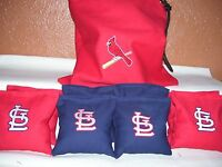 St. Louis Cardinals Embroidered Cornhole Corn Hole Bags With Storage Bag