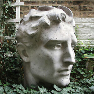 Image Is Loading Greek Head Bust Garden Statue Sculpture Remnant By