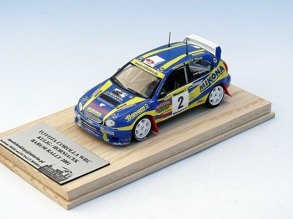 KULIG   HORNIACEK RALLY BARUM 2001 TOYOTA CGoldLLA WRC 1 43 code3 MIKONA great