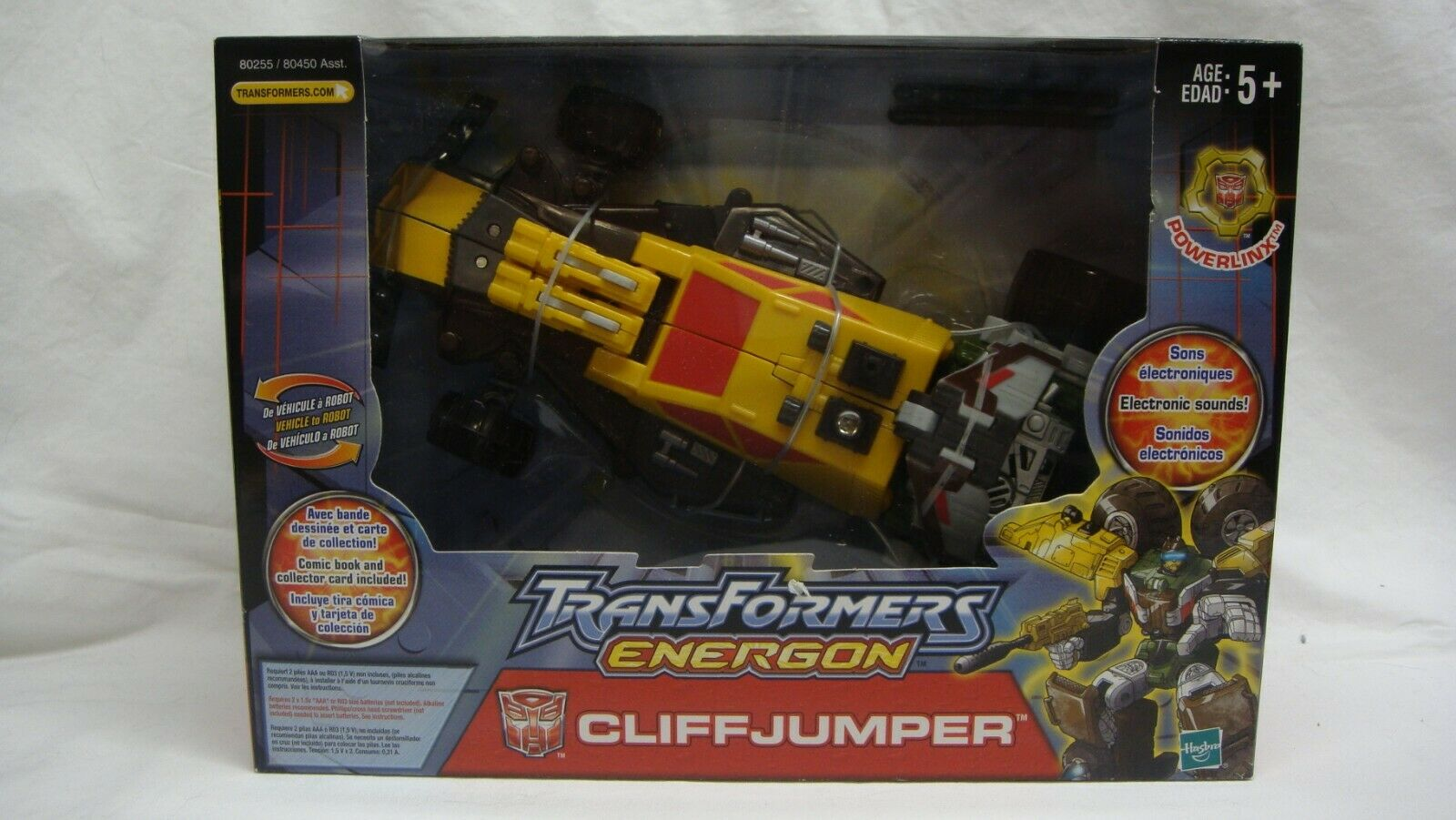 TRANSFORMERS ENERGON POWERLINX CLIFFJUMPER COMIC BOOK COLLECTOR CARD NEW SEALED