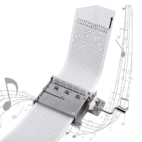 DIY Kit Handkurbel Spieluhr Bewegung 30Note + Loch Puncher + 3 Papierstreifen gl