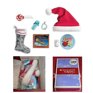 Details About American Girl Christmas Eve Set Truly Me Doll Stocking Cookies Santa Hat New