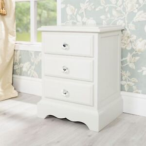 Romance Bedside Table 3 Drawer
