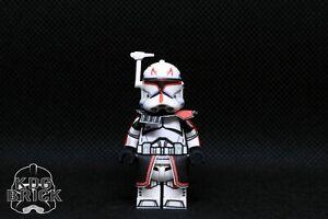 lego star wars custom captain rex red custom deluxe clone minifigure | ebay