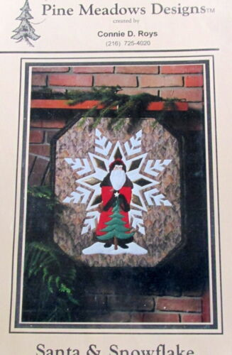 Pine Meadows Applique Christmas Quilt wallhanging Pattern Santa snowflake 27x23
