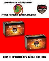 2  SLR125 VMAX AGM Deep Cycle 12V 125AH Battery for Synthesis Renogy SOLAR PANEL