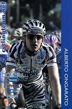 CYCLISME carte cycliste ALBERTO ONGARATO équipe DOMINA VACANZE