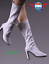 """1//6 scale White Leather Boots HOLLOW for 12/"""" PHICEN female figure"""