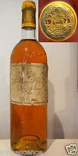 vin Chateau d' YQUEM 1975 Bordeaux Sauternes 99/100 Parker bouteille 75cl wine