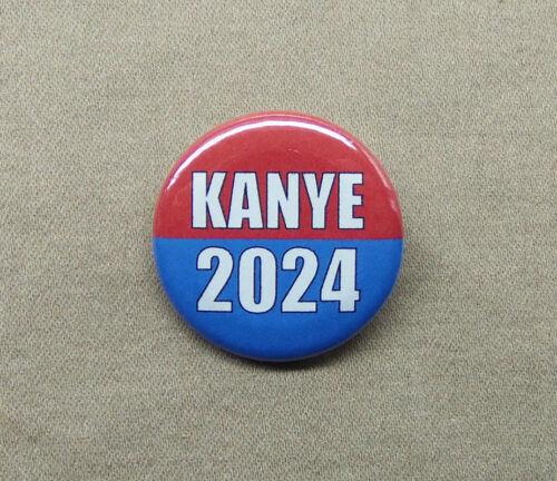 """Kanye 2024 1.25"""" Button Kanye West Rapper President Vote Kim K FLOTUS Election"""
