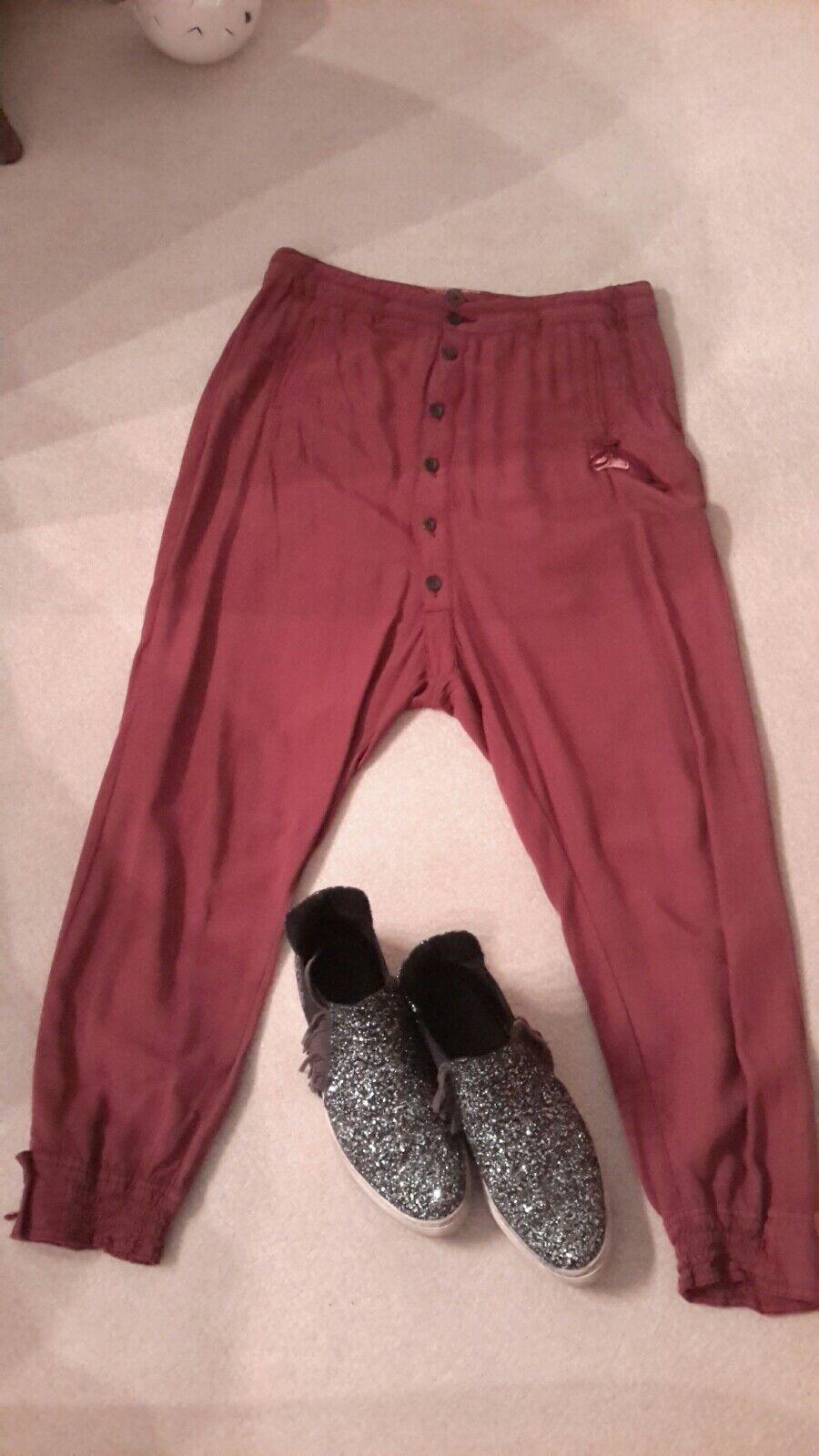 Khujo Trousers, Waist 30, Maroon