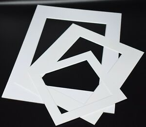 White-Photo-Picture-Frame-Mounts-Bevel-Cut-1-4mm-White-Core-Mount-board