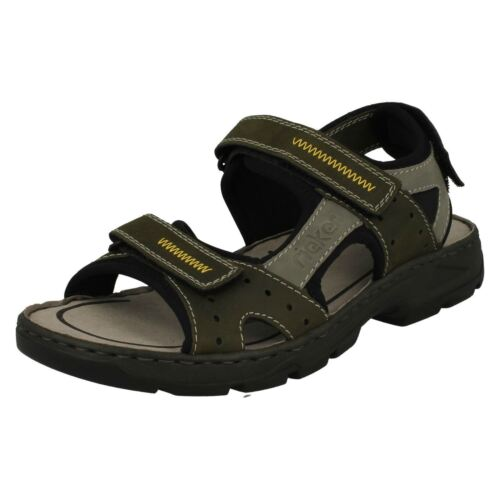 Mens Rieker 26157 Green Combination Casual Strap Sandals