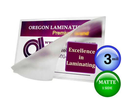 pk of 25 8x10 Photo 3 Mil Clear//Matte Hot Laminating Pouches 8-1//4 x 10-1//4