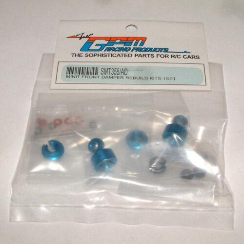 MINI-T GPM FRONT BLUE ALUMINUM SHOCK REBUILD KIT SMT355//AD