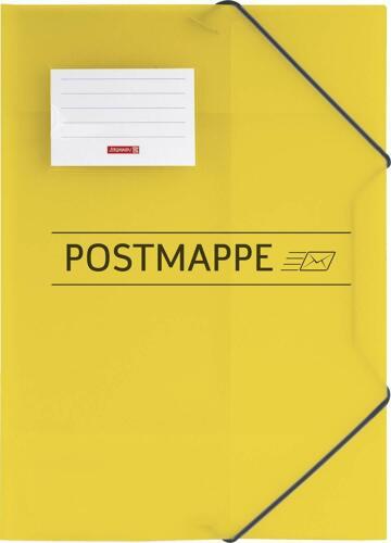 Brunnen Postmappe A4,PP,transluzent Gummizug 3 Klappen
