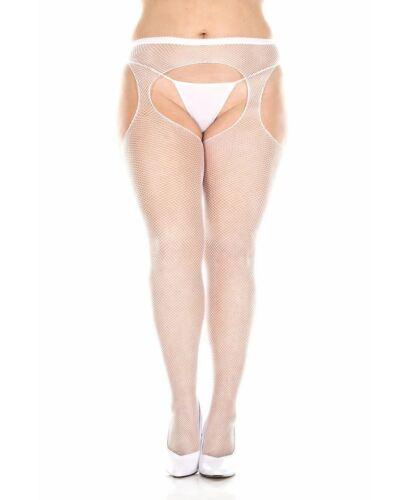 Plus Size Fishnet Suspender Pantyhose Music Legs 903Q