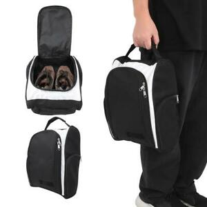 Portable-Waterproof-Golf-Shoe-Bag-Package-Storage-Accessory-with-Handle-Black