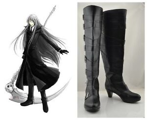 Anime Black Butler Kuroshitsuji Undertaker Undertaker Cosplay Shoes Boots