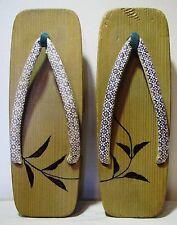 Vintage Japanese Wood Wooden Kimono Geta High Heel Sandals Clogs Flip Flop Shoes