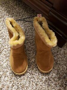 Western Chief Girls Fashion Boot, Makena Peanut, 10 M US Toddler.