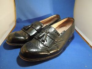 Bostonian First Flex Mens Dress Shoes Black Leather Tassel Loafers