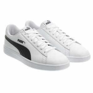 Puma-Men-039-s-Smash-V2-Black-White-Athletic-Basics-Sneakers-Shoes-Pick-Size