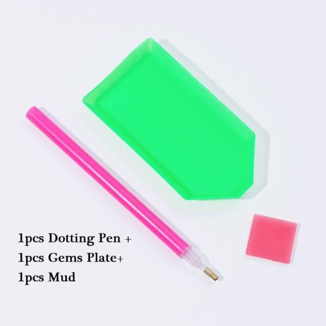 1 Set Dotting Wax Pen Rhinestone Holder Drilling Mud Picker Clay Nail Art Tools