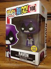 FUNKO POP Teen Titans púrpura Raven Toys-R-Us #108 GITD Figura De Vinilo exclusivo EE. UU.