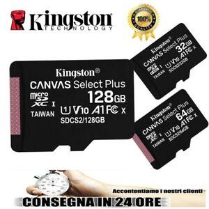 KINGSTON-MICRO-SD-16-32-64-128-GB-CLASSE-10-MICROSD-ULTRA-SCHEDA-MEMORIA-100-MB