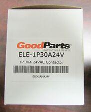 GOODMAN GOOD PARTS PACKARD Contactor 1 Pole 30 Amp 24V Coil ELE 1P30A24V