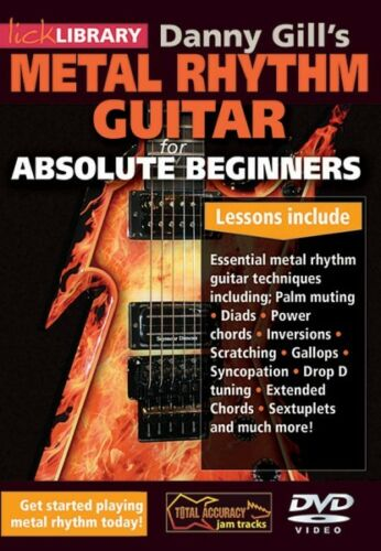 Danny Gill/'s Metal Rhythm Guitar Absolute Beginners Series Lick Librar 000139217