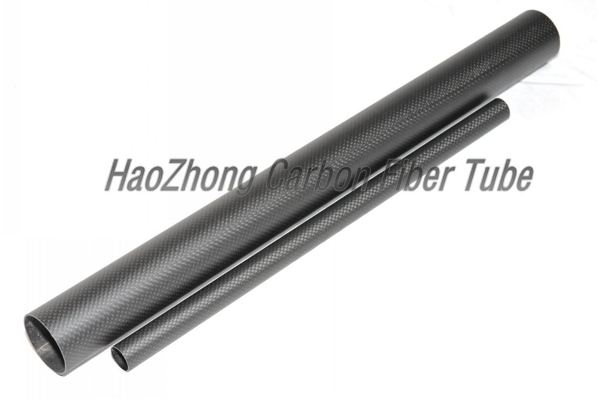 1-4pcs 42 MM OD X 40 MM ID X 500MM 100% Roll Wrapped Carbon Fiber Tube 3K/Tubing