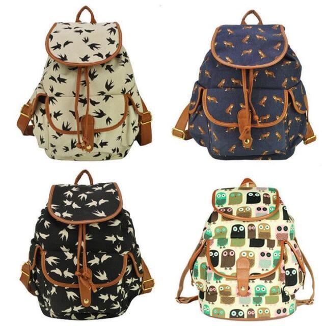 2016 New  Women's Canvas Travel Satchel Shoulder Bag Backpack School Rucksack