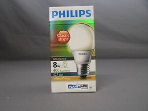 PHILIPS-AMBIANCE-8W-ES-WARM-WHITE-ENERGY-SAVER-GLOBE