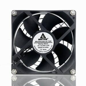 AC-110V-120V-220V-240V-92mm-x-92mm-x-25mm-Computer-Cooling-Fan-With-Grill-Screws