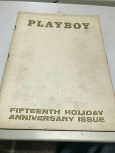 VINTAGE PLAYBOY MAGAZINE JANUARY 1969  FIFTEENTH HOLIDAY ANNIVERSARY ISSUE