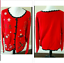thumbnail 1 - Ugly Christmas Sweater Size XL Red Skies Mittens Winter Cardigan Basic Editions