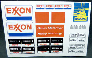 LEGO-Stickers-for-Vintage-Exxon-Gas-Service-Station-set-6375