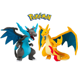 2pcs-Pokemon-Mega-Charizard-X-amp-Y-Plush-Doll-Stuffed-Toy-Blue-Yellow-Xmas-Gift