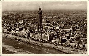 Blackpool-Grossbritannien-s-w-AK-1954-gelaufen-Gersamtansicht-mit-Blackpool-Tower