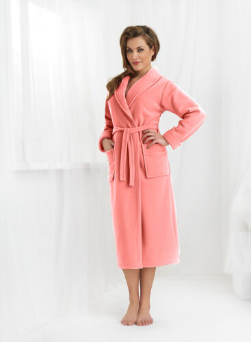 New Womens Luxury Soft Long Bathrobe Dressing Gown Housecoat UK Robe Size 8-18