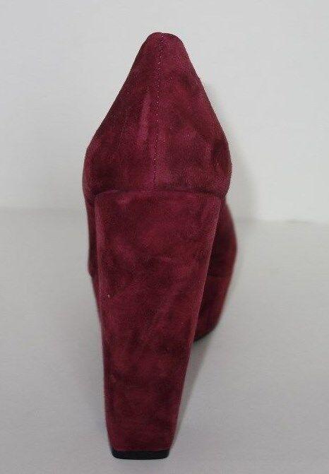 NEU Dolce Vita 8M Burgundy Suede Platform Heel Pump BRYANN Round Toe Dress Schuhe