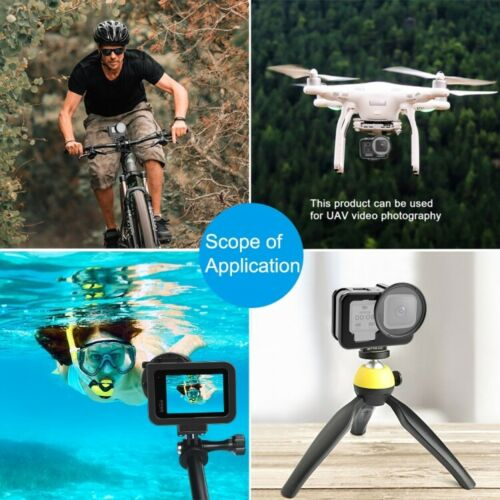 GoPro HERO9 CNC Aluminum Alloy Housing Shell Protective Cage w// Lens for Hero 9